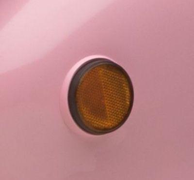 Halter für Seitenreflektor rosa Retro Star ZNEN
