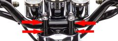 Lenkerhalterung SET 2 Stück (schwarz) Retro Star