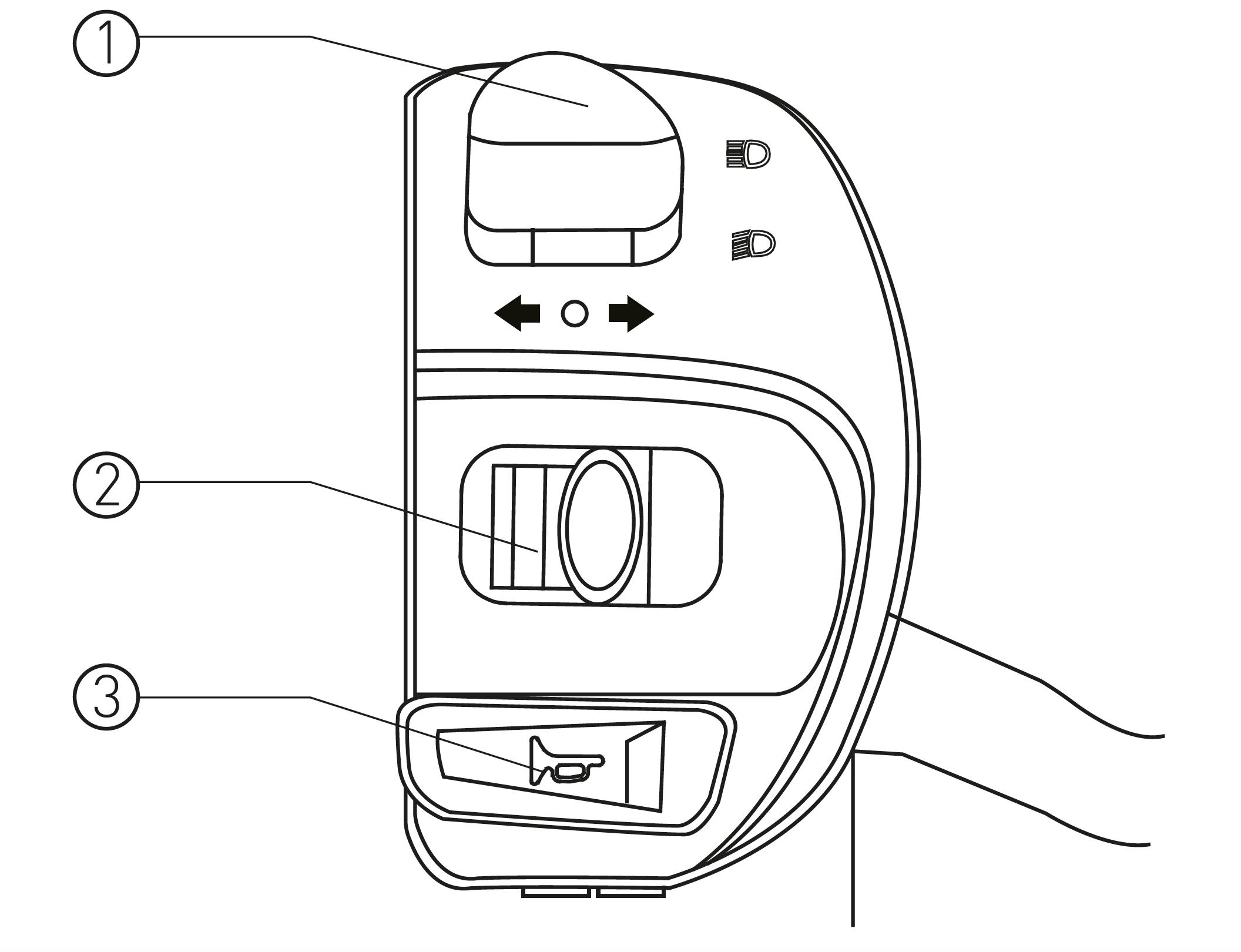 Linke Armaturen des S6 max Elektro-Motorrollers von Nova Motors