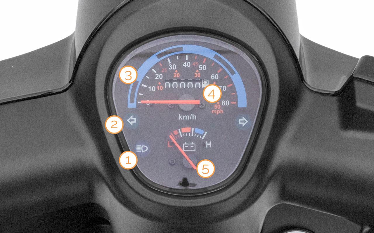 Tacho des eGrace Elektro-Motorrollers