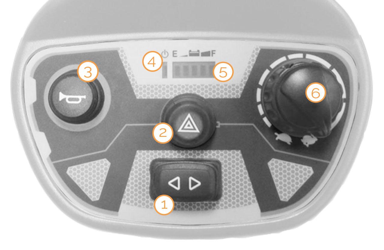 Tacho des Nova Motors Admiral Elektromobils