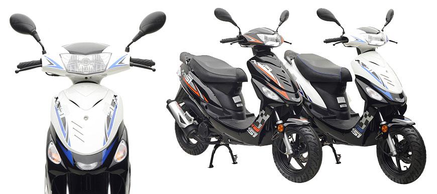 Energy der günstige Zweitakt Motorroller