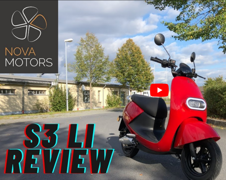 Erfahrungen mit dem Nova Motors S3 li Elektroroller