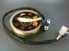 Lichtmaschine komplett inkl. Rotor (Polrad) 49ccm