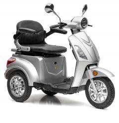 Nova Motors Bendi Premium silber mit tragbarem Akkupack Dreirad-Motorroller Elektromobil Seniorenmobil