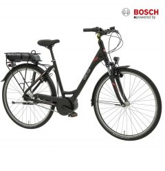 Birota 980 eBike Pedelec 28 Zoll Aluminiumrahmen 7-Gang Shimano Nexus mattschwarz mit Bosch Active Line Plus Mittelmotor