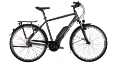 Corratec E-Power 28 Urban Active 8s Gent in mattgrau mit Bosch Active Line Plus Mittelmotor und Shimano Nexus 8-Gang