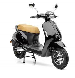 Retro Scooter eGrace die umweltfreundliche Elektro-Version in schwarz