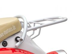 Gepäckträger weiß mit Schnellverbinder für Topcase Retro Star