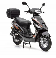 Motorroller Nova Motors City Star 49ccm 4-Taktmotor und Topcase in schwarz-orange