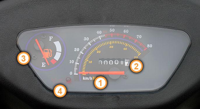 Cockpit des Energy Motorroller von Nova Motors