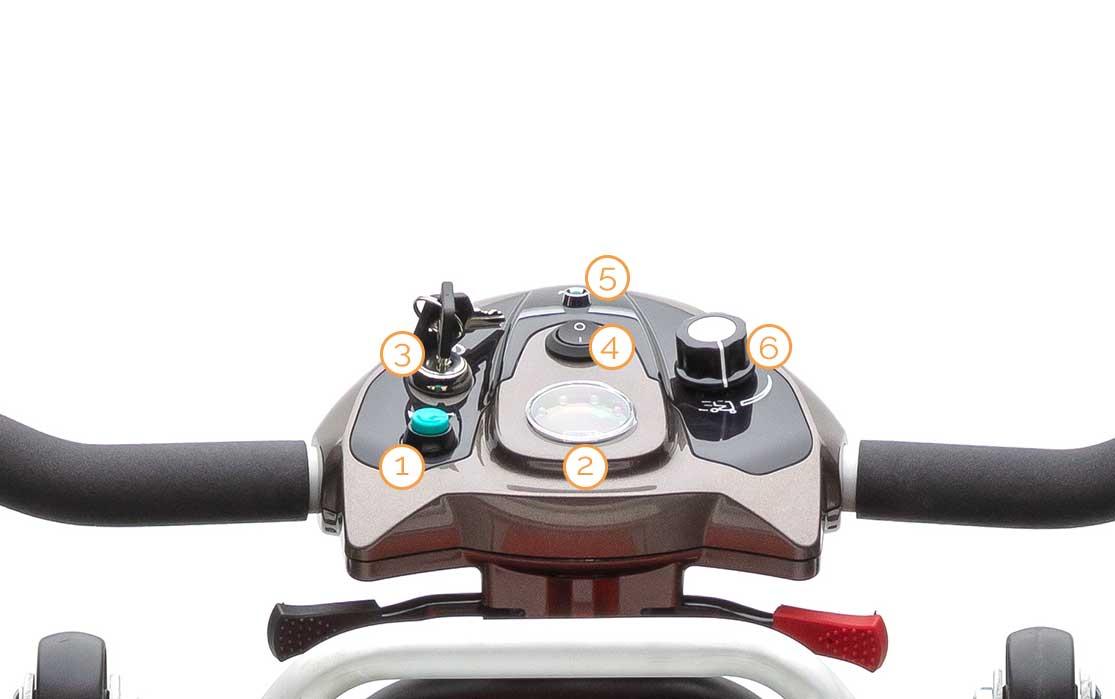 Tacho des Nova Motors Mini 4 plus Elektromobils